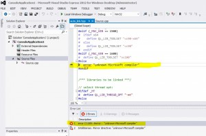 quantlib compile error visual studio 2012